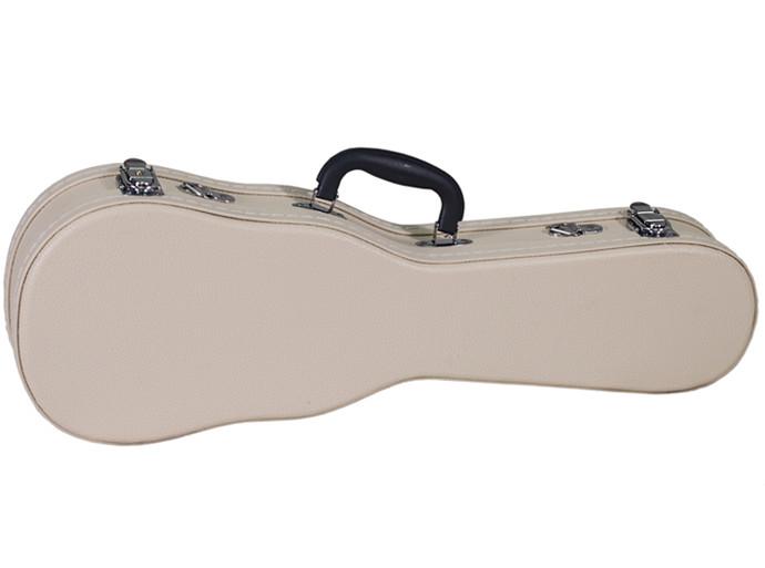 米白色細荔紋21寸尤克里里琴盒